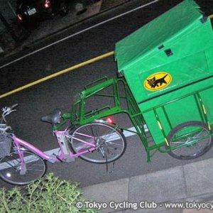 Kuroneko-Yamato, motor assisted bike with trailer