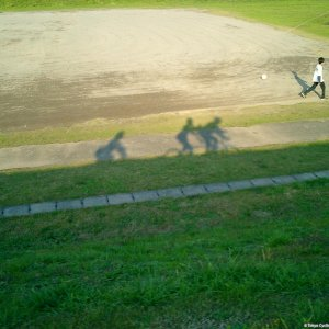 Tandem-riding along the Tamagawa