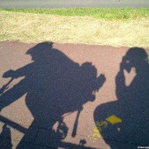 Tandem-riding along the Tamagawa