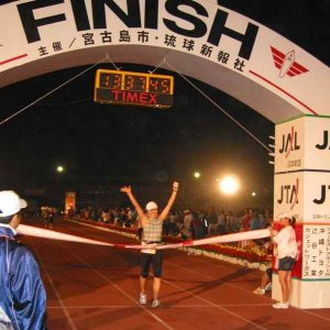 2007 Miyakojima triathlon(Naoko finish)