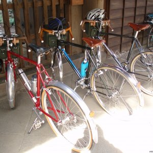 Heirinji temple: Touring bikes meeting