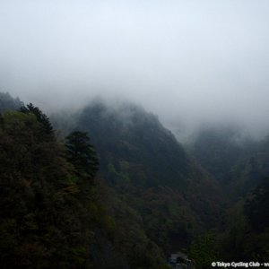 On my way to the top of Matsuhime in the mist