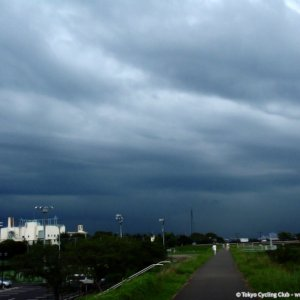 heavy rain waiting above Fuchu