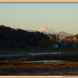 Fujisan seen from Fuchu Nov. 22 6:50 am