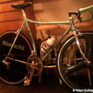 old(?) Bianchi TT bike