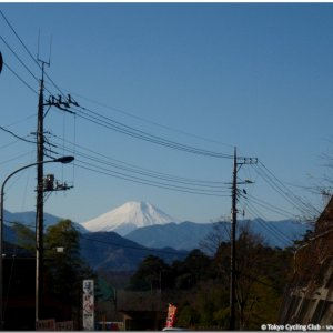 Fuji seen from Otarumi-toge Dec. 29, 2008