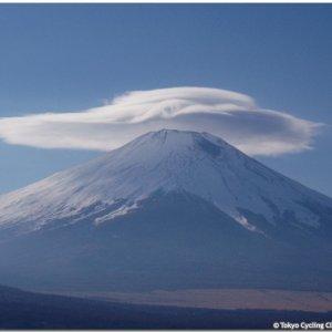 Kasagumo Cap Cloud hovering above Fujisan today