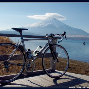Ride to Lake Yamanaka today...sunny and warm!