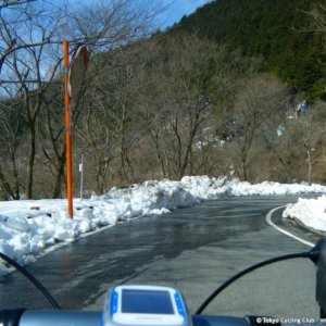 Snow melting on Wada-toge today