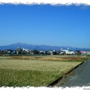 Meandering through paddy fields and construction works