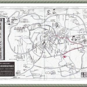 MAP of KUSATSU Ryokans