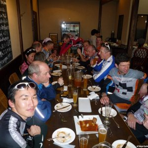 MOB Sayonara Ride - Apres-ride drinks at Fussa-no-Beer-goya