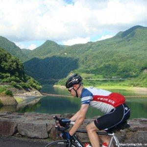 Crossing Arakawa Dam