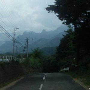 Kawakami-mura, dreadful mountain formations around Odarumi-toge looming ahe