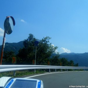 Riding past Lake Kannako on R462 Gunma side