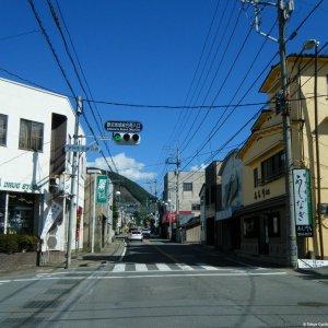 riding through Katsunuma town towards Koshu Kaido