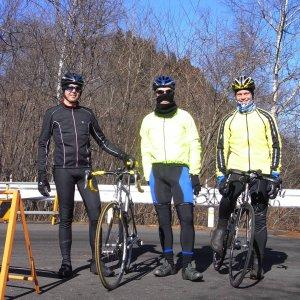Team IRA: Lee, Travis, Steve at the top of Kazahari