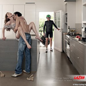 Very daring ad by Lazer helmets from Belgium...