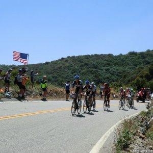 Ryder Hesjedal leads breakaway - ToC Stage 7