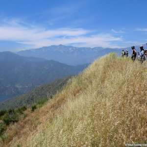 Watching action in valley below - ToC Stage 7
