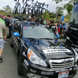 Garmin Cervelo team car - ToC Stage 8