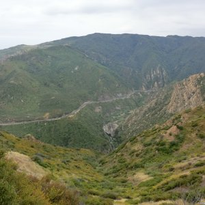 Malibu Canyon Rd. from high on Piuma Rd.