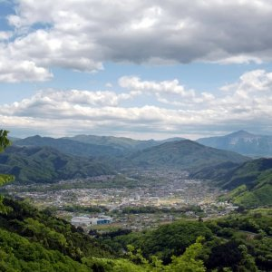Sight over Chichibu area from Maze-toge