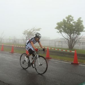 Naomi-san at Utsukushigahara Finish