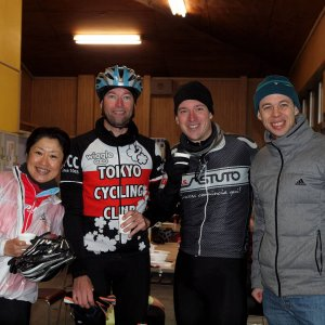 Naomi-san, Doug, Gunnar and AlanW...TCC racers